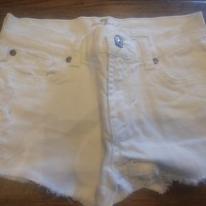 Seven for all Mankind white Jean shorts